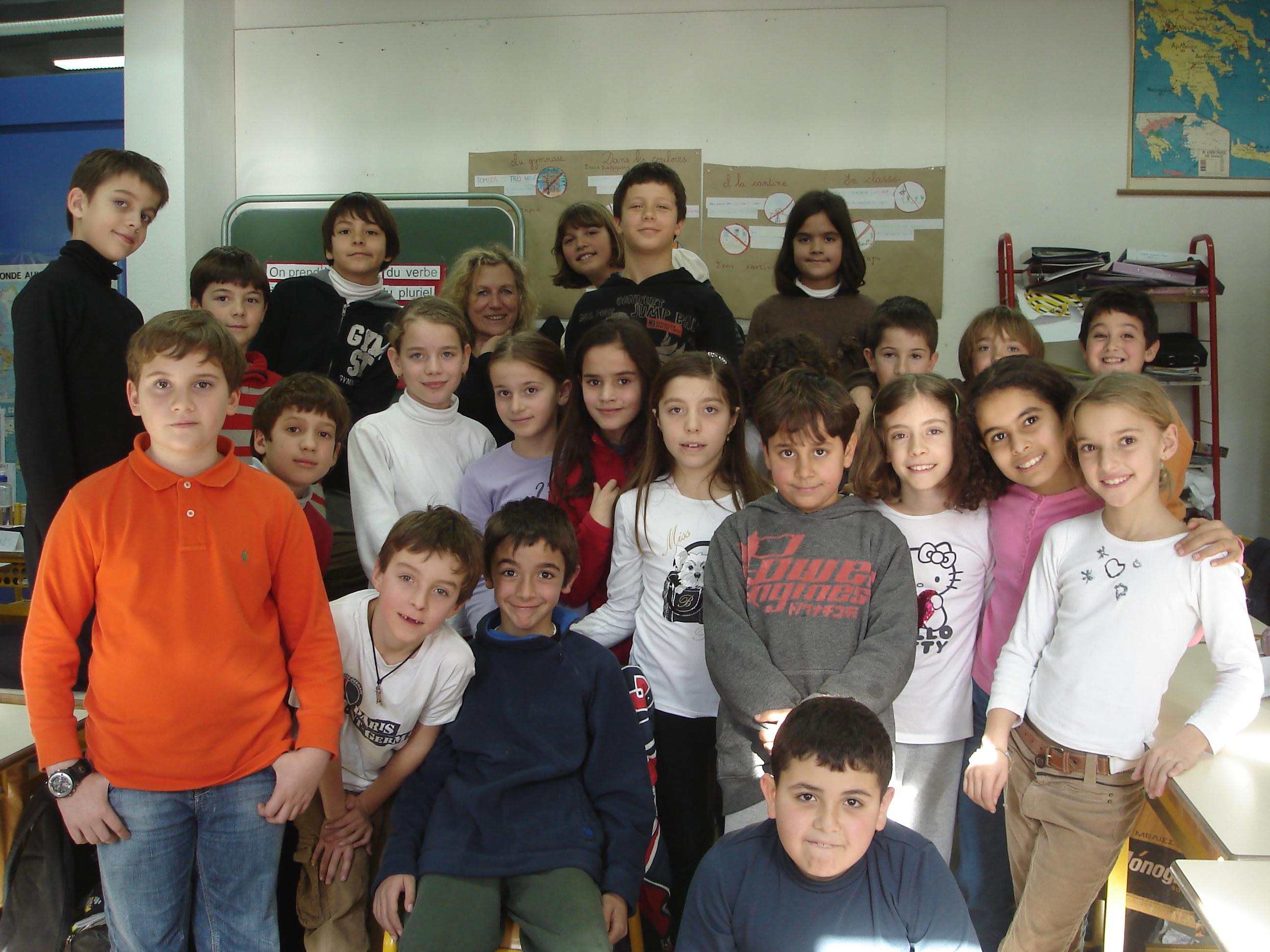 Sur le stand france avec les élèves de 5ème et 6ème de l école